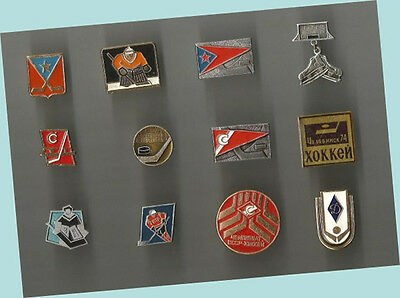 12 Different Russian Hockey Club Lapel Pins NICE VARIETY