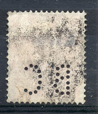 GB = Commercial PERFIN `B C`. Good/Fine Used G6 One Penny Pale Red.