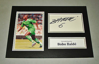 Bobo Balde Signed A4 Photo Display Glasgow Celtic Autograph Memorabilia + COA