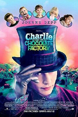 CHARLIE CHOCOLATE FATORY MOVIE JOHNNY DEPP POSTER (61x91cm)  PICTURE PRINT NEW