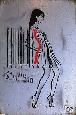 Ge Feng Barcode Girl Pinup POSTER (61x91cm) Picture Print New Art
