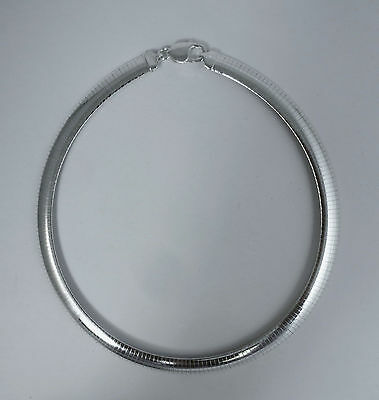 Omega Necklace 16,18,20 inch, 4mm,6mm,8mm,10mm 925 Italian Sterling Silver Chain