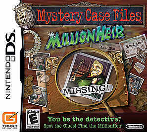 MYSTERY CASE FILES MILLIONHEIR (Nintendo DS, 2008) INCLUDES INSTRUCTIONS