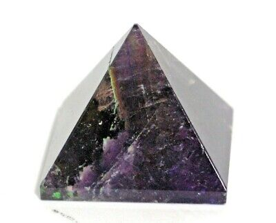 Reiki Energy Charged Amethyst Pyramid Crystal Natural Stone Calms & Stimulates