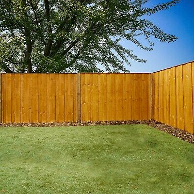 Wooden Vertical Hit & Miss Dip Treated Fence Panel FSC Timber 6ft 5ft 4ft 3ft