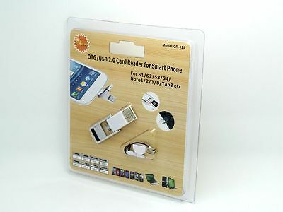 OTG to USB Micro SD Card Reader for Samsung Galaxy S2, S3, S4, Note 3, 8 Tab 3