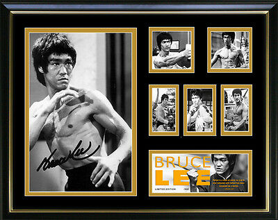 New Bruce Lee Signed Framed Memorabilia