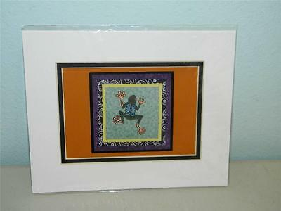 Frog Toad Print Robin Bowman Designs Fabric Collage 11237