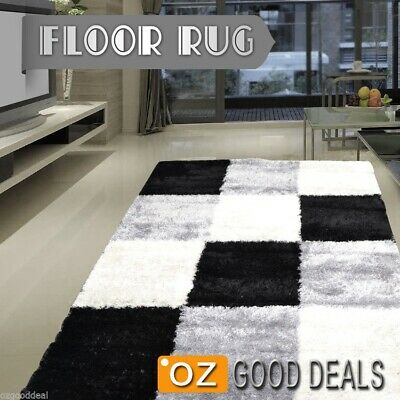 New Designer Shag Shaggy Confetti Floor Rug Carpet Free Delivery Extra Large