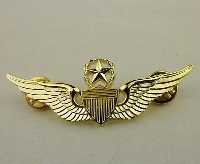 US Army Master Aviator wings wing golden Pin badge insignia-D401