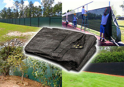New Fence Privacy Screen Windscreen Mesh Fabric Cover Garden Yard - 8'x50' Black