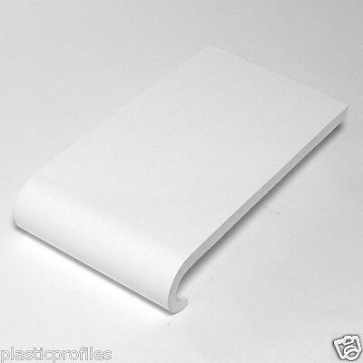 WHITE PLASTIC BULLNOSE COVER BOARD WINDOW CILL SILL VARIOUS WIDTH 1 X 1250mm