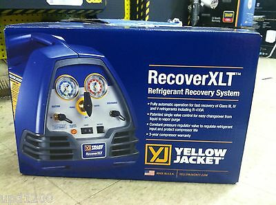Yello Jacket Recover Xlt Refrigerant Recovery Machine - 95760
