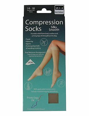 1x Ladies Silky Smooth Style Knee High Compression Flight Travel Maternity Sock