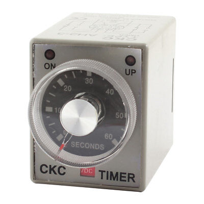 DC 12V 0-60 Seconds 60s Plastic Housing Delay Timer Time Relay 8 Pin AH3-3