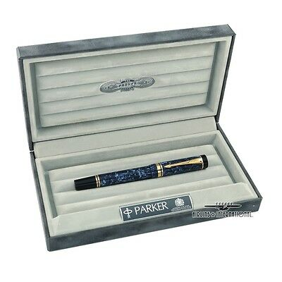 Parker Duofold International Marble Blue Fountain Pen