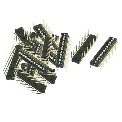 14 Pcs 2.54mm Pitch 12 Position Slide Type DIP Switches