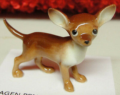 ➸ HAGEN RENAKER Dog Miniature Figurine Chihuahua Brown Tan