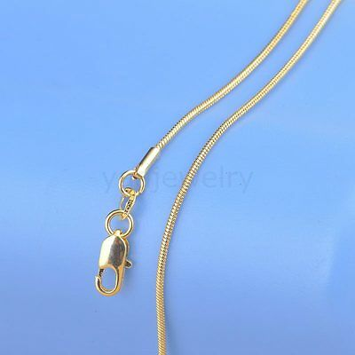 1PC 16-30 Inches18K Yellow Gold Filled Snake Necklace Chain GF For Pendant C11