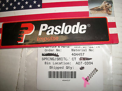 Paslode  Part # 404457 Switch Spring - SINGLE PIECE