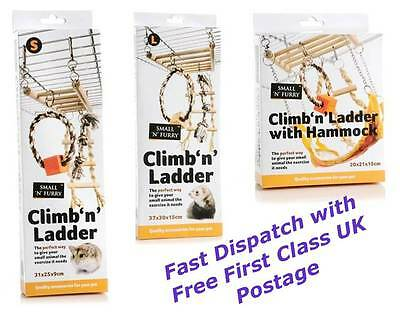 Climb n ladder hammock toy rat degu ferret hamster gerbil small pet exercise