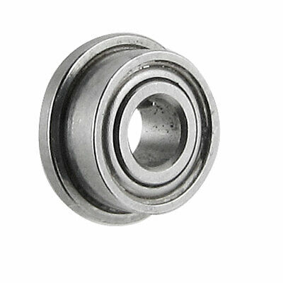 6mm x 2.5mm x 2.5mm Radial Shielded Deep Groove Flanged Ball Bearing Silver Tone
