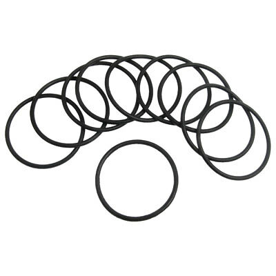 10 Pcs 41mm x 2mm Black Silicone O Rings Oil Seals Gaskets
