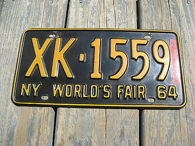 1964 64 1965 65 New York Ny License Plate World's Fair Nice Tag Great Condition