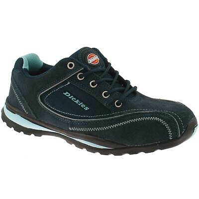 Ladies Dickies Ottawa Safety Work Shoes Size Uk 3 - 8 Suede Leather Blue Fd13910