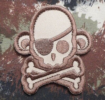 SKULL MONKEY PIRATE TACTICAL USA ARMY BADGE ISAF MILITARY MULTICAM VELCRO PATCH