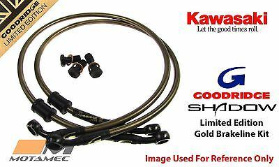 Goodridge GOLD For Kawasaki ZX10R 04-05 Race Front SS Braided Brake Lines Hoses