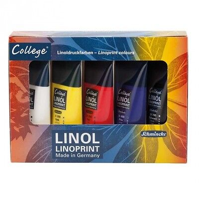 Schmincke College Lino Block Printing ink Set - Water Based - 5 x 75ml Tubes