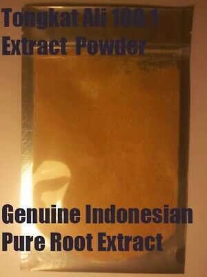 Tongkat Ali 100:1 Extract Powder 100g - Genuine Indonesian Pure Root Extract