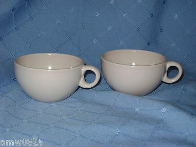 2 VINTAGE RUSSEL WRIGHT COFFEE CUPS PINK SHERBET IROQUOIS CASUAL CHINA REPLACEME