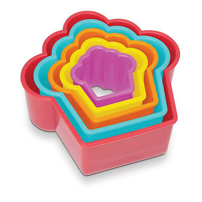 NEW Creative Cupcake Shaped Cookie / Playdoh Cutters - Set 5 - Plastic