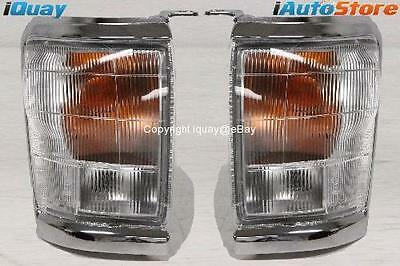 Toyota Hilux 2WD/4WD '97-'01 Corner Indicator Lights PAIR LH+RH Chrome Trim NEW