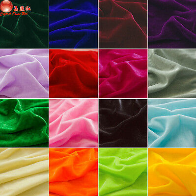 """1 meter by the yard popular polyester velvet Fabric Solid Color DIY 63"""" #23"""