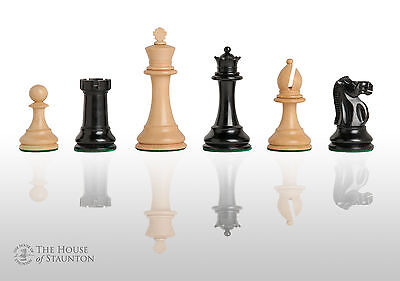 """The British Chess Company-Staunton Popular Chess Set - Pieces Only - 4.0"""" King -"""