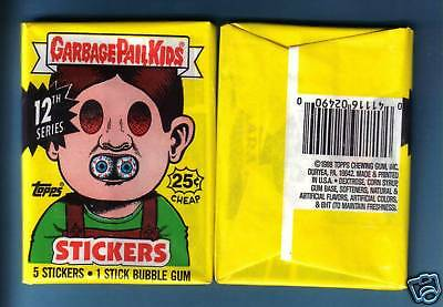 1988 Garbage Pail Kids Series 12 Wax Pack (x1) from Box!