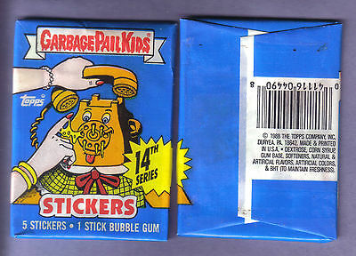 1988 Garbage Pail Kids Original Series 14 Wax Pack (x1) from Box!