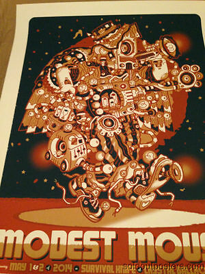 Modest Mouse May 1,2/2014 Guy Burwell poster print Portland, OR Crystal Ballroom