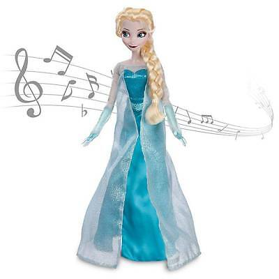 "Disney Store Exclusive FROZEN ELSA Singing Light Up DOLL 16"" NEW"