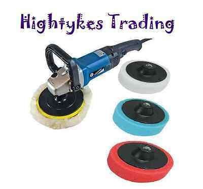 Polishing kit car boat polisher buffer sander 180mm SILVERLINE buffing machine