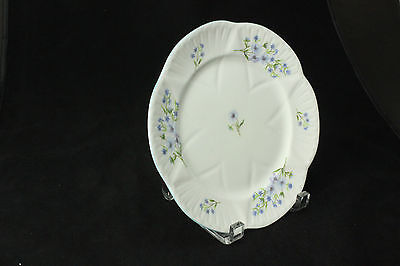 "SHELLEY  ""Blue Rock"" Salad Plate, White Dainty Shape, Style # 13591"
