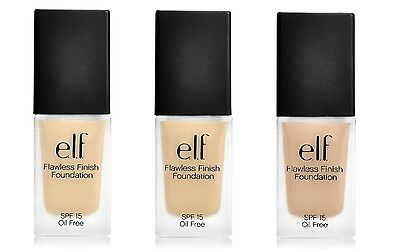 E.L.F. Studio Flawless Finish Foundation NIB chose color ELF Porcelain Sand Buff