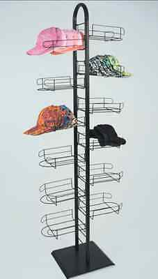 AYS Retail 12 Tier Sport Cap Tower Display Rack Holds up to 144 caps (Black)