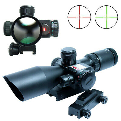 2.5-10x40 Tactical Rifle Scope Mil-dot Illuminated Red Laser 20/11mm Rail Mounts