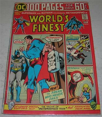 WORLD'S FINEST #226 (DC Comics 1974) SUPERMAN & BATMAN (VG+) METAMORPHO app