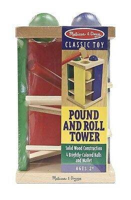 POUND & ROLL TOWER #3559 ~Montessori Wooden Activity, age 2+  Melissa and & Doug