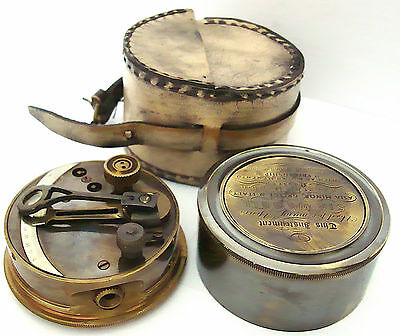 Collectable Brass Pocket Sextant - Brass Marine Sextant -With Leather case